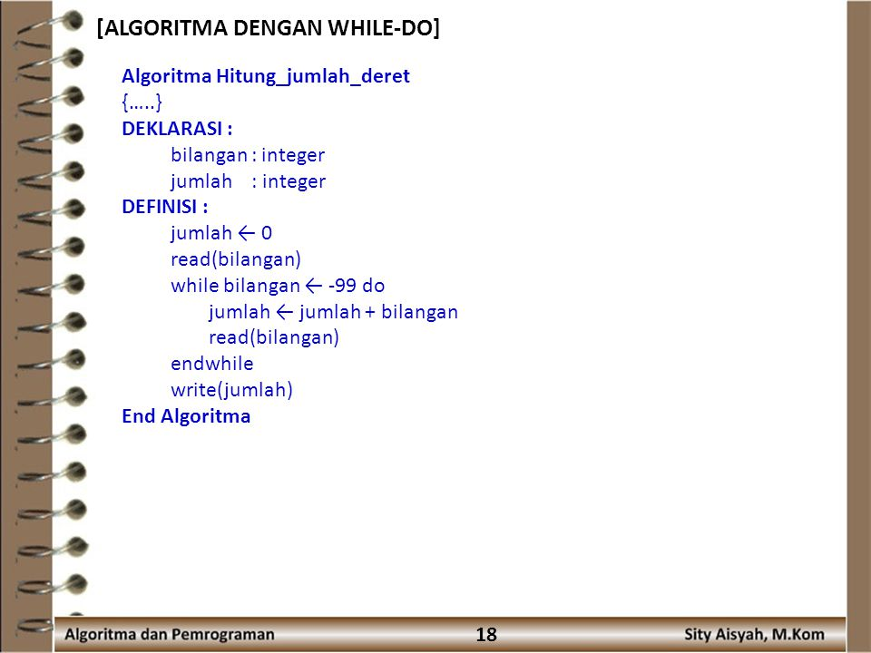 [ALGORITMA DENGAN WHILE-DO]